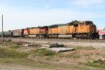 BNSF DPUs forWB tank train