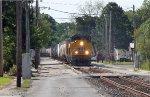 UP WB freight street running