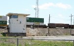 KCS WB mix freight going by the tower