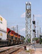 KCS intermodal heading for the bridge