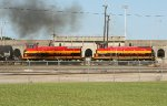 KCS SW1500 switching the yard
