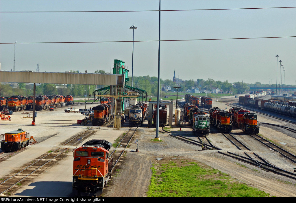 BNSF 9242 Sits along all the power in Galesburg IL.