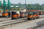 BNSF 555 Another's sit in the old Bn yard!!