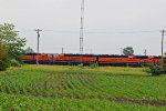 BNSF 2240 Yard power sitting around Galesburg.
