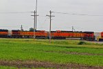 BNSF 5614 and Almost sister 5614 sit in the yard.