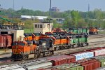 BNSF 7091 and More good power sitting in the yard this Morning!!!