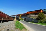 BNSF 5831 3 trains 1 View!!!!