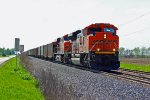 BNSF 9232 Heads up a loaded coal train.