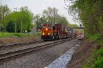 BNSF 4996 Takes a stack train Wb