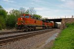 BNSF 5421 Heads up a Wb auto train.