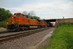 BNSF 4851 heads up a Wb stack train at Peck Park!