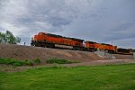 BNSF 6740 Takes a Freight Nb out of Galesburg.