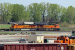 BNSF 981 Gets ready to Depart the Yard.