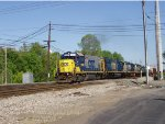 Local from Huntington heads back to Russell with newly painted power.