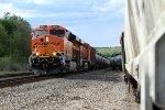 New BNSF unit 8096 pulls CSX oil train