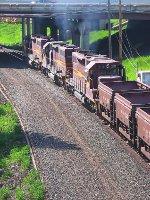 060606033 Northbound DM&IR empty pellet train on Proctor Hill at Spirit Mountain