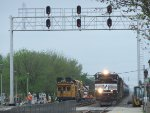 NS 1038 passes through the work zone