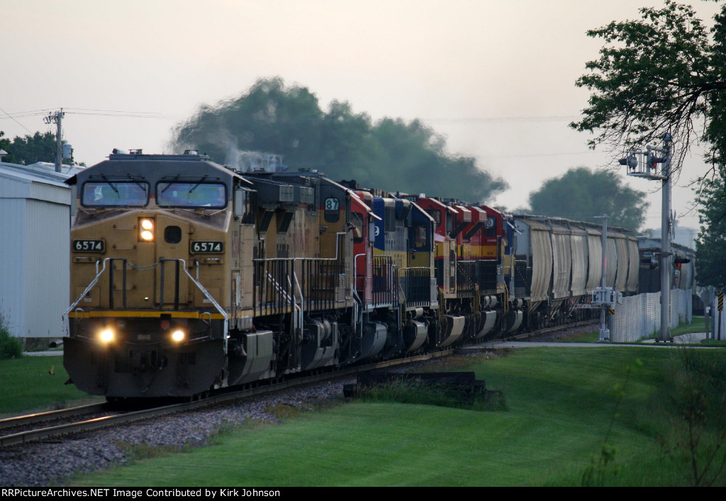 A Very Colorful Eastbound Train Rumbles Along