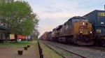 CSX WB Intermodal meets CSX EB Intermodal