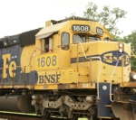 BNSF 1608 with a wave from the engineer!