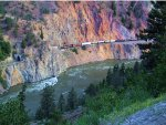 CN 5698 SD75I Solo WB CN Ashcroft Subdivision in the Spectacular White Canyon