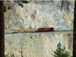 CP 8605 WB Pusher on Canpotex Potash Train in the Spectacular White Canyon