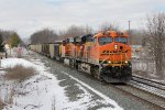 BNSF 6119 & 6388 bring 130 loads of coal for Essexville east as N956-22
