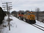 N956 rolls east through Grandville lead by BNSF 9851 & 5973
