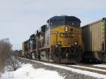 Almost to Wyoming Yard, Q326 passes a parked loaded coal train