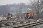 With a signal off the Coach Lead, Z151 heads into Plaster Creek to crossover to the Even Lead as D802 comes west on the main