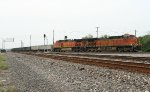 BNSF rock train heading for Conroe