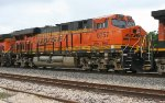 BNSF 6757 on WB freight