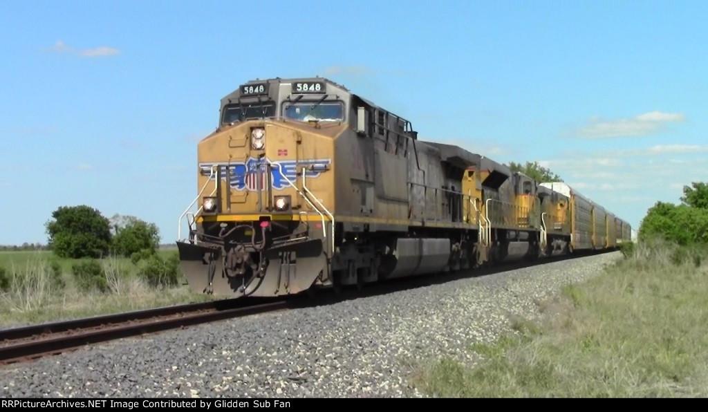 UP 5848 west of Rosenberg, TX