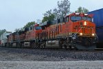 BNSF 6997 Leads a hot stack train.
