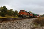 BNSF 6753 Leads a WB stack train.