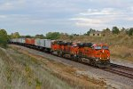 BNSF 6723 Rips on a hot Z train.