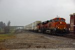 BNSF 6590 Heads a short stack
