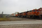 BNSF 7561 Leads a long stack train EB.