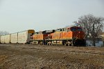 BNSF 7218 Heads a Auto train EB.
