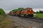 BNSF 7044 Slows as she comes up Cardy Hill.