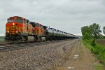 BNSF 4350 Heads EB with a freight train or is it?
