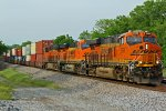 BNSF 6969 Leads a stack train!