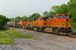 BNSF 5501 Leads Big power WB!!