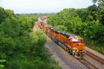 BNSF 6997 Heads Eb with a stack train in tow.
