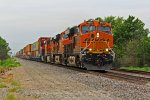 BNSF 6903 Brings up a EB stack train!