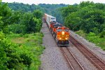BNSF 5663 Leads a Short and over powerd Z train EB.