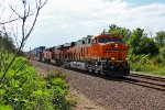 BNSF 6507 Rips a EB stack train Clean C4 Gevo on point!