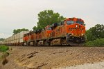 BNSF 7565 Rips a hotshot Z train!