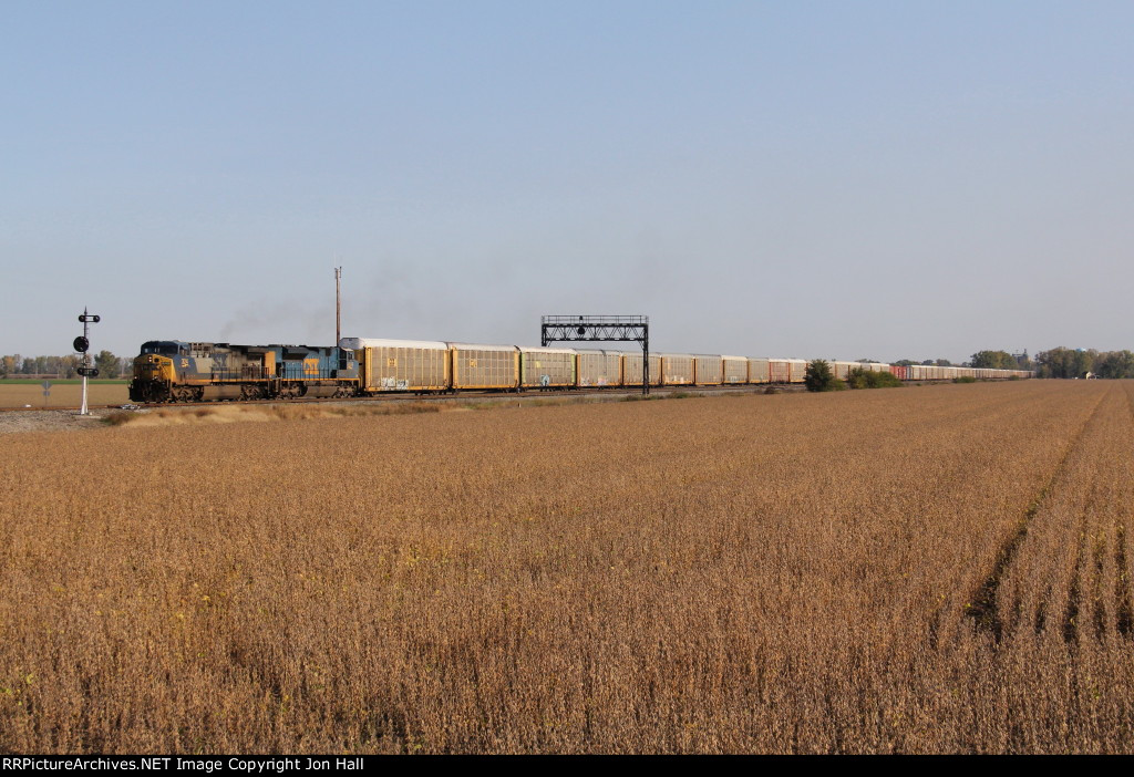 CSX 324 & 4849 roll through the plant at South Deshler with Q241