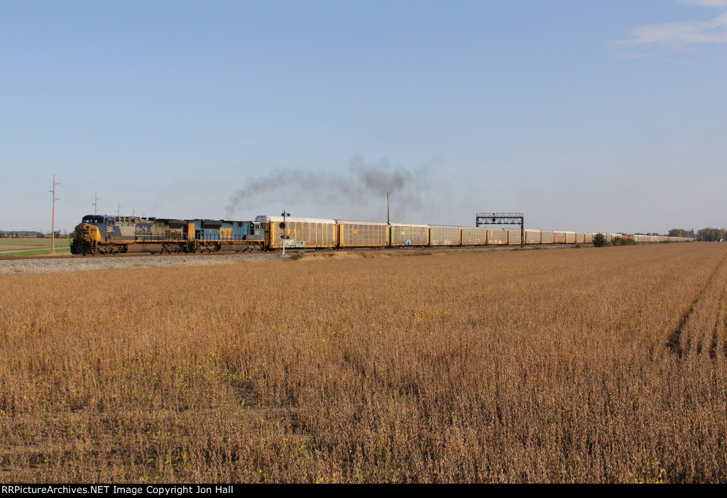 After the rear end cleared the wye, Q241 throttles up as it heads south